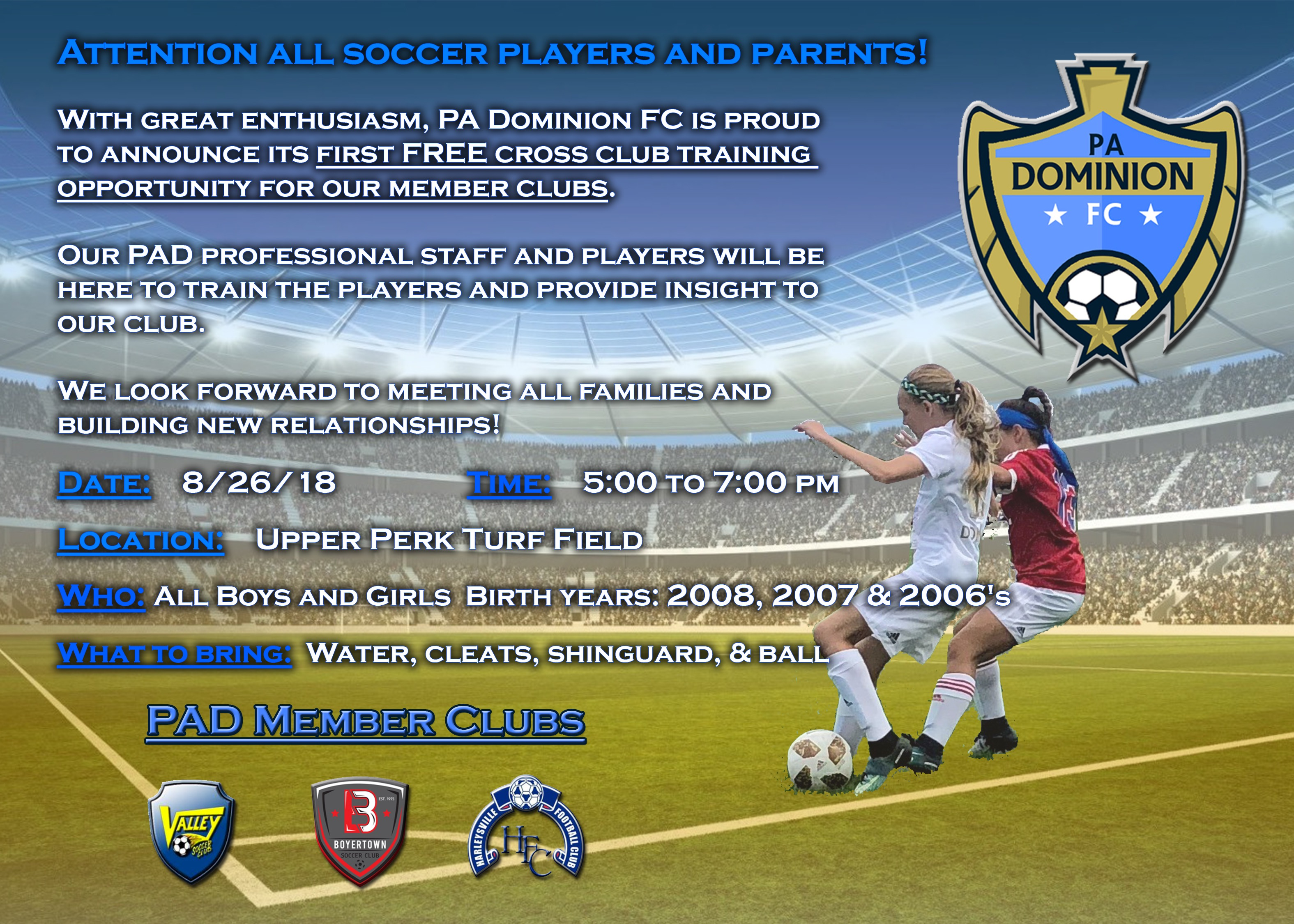 A Dominion FC 2018 FREE Training Day